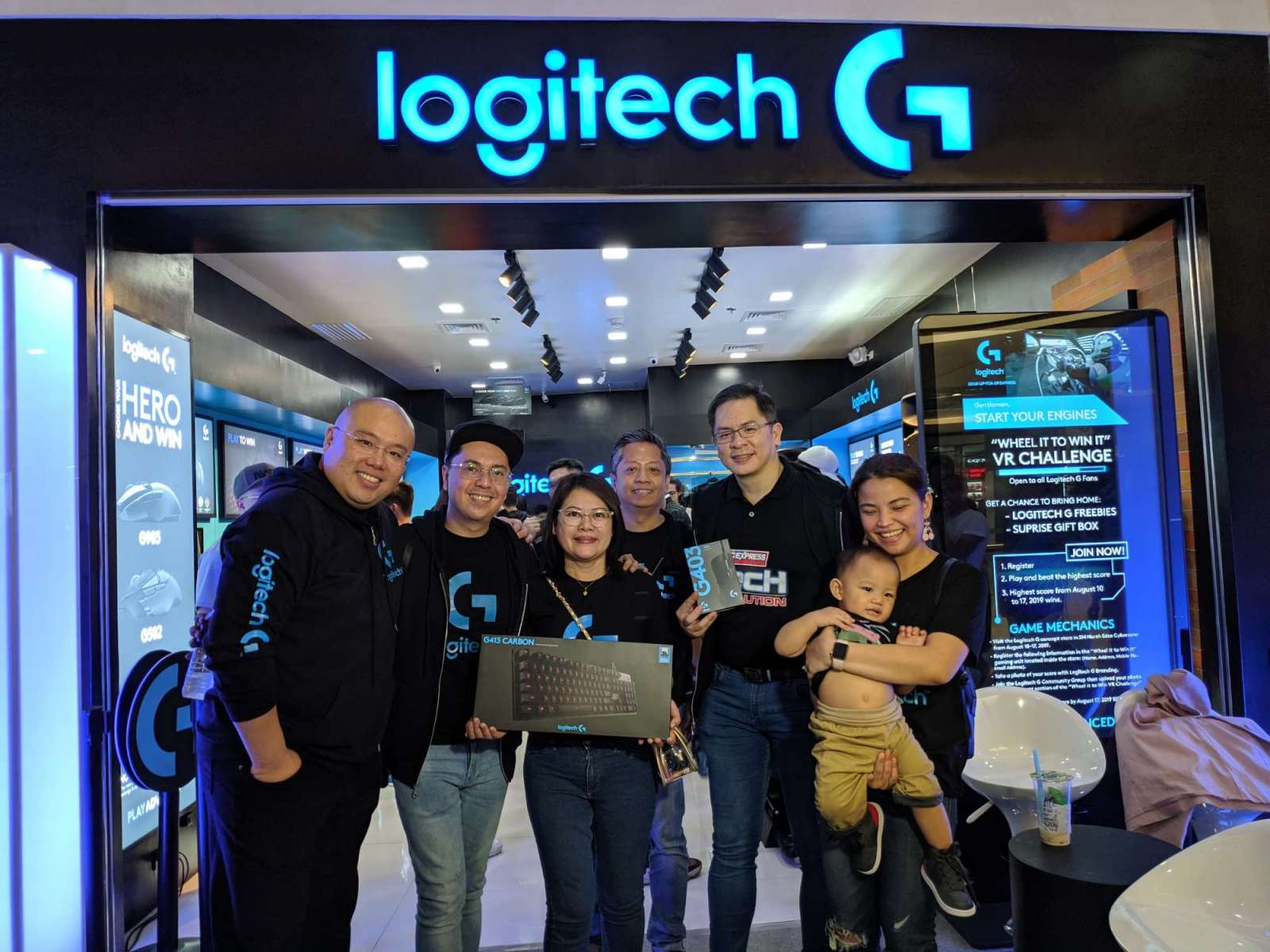 Logitech Philippines VP of Sales and Marketing Jesse Tan with fellow executives Thea Cornelio, Bernard Chow, Marlon Ballelos, Jarmine Borja, Sharleen Suarez, and Ice Santos - Logitech G Concept Store - Cyberzone SM North EDSA Annex, Quezon City, Philippines