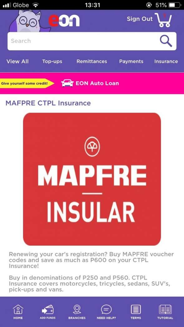 MAPFRE insurance online EON - Car registration renewal Philippines