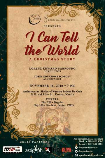 UP Manila Chorale Christmas Concert Poster