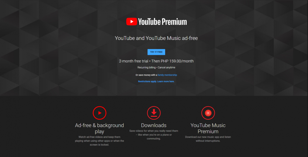 YouTube Premium and YouTube Music Philippines