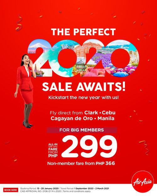 AirAsia 299 seat sale 2020
