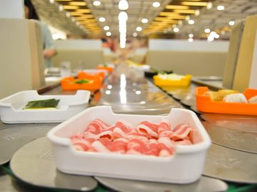 Conveyor belt - Hosaku International Buffet Philippines SM North Tower 2
