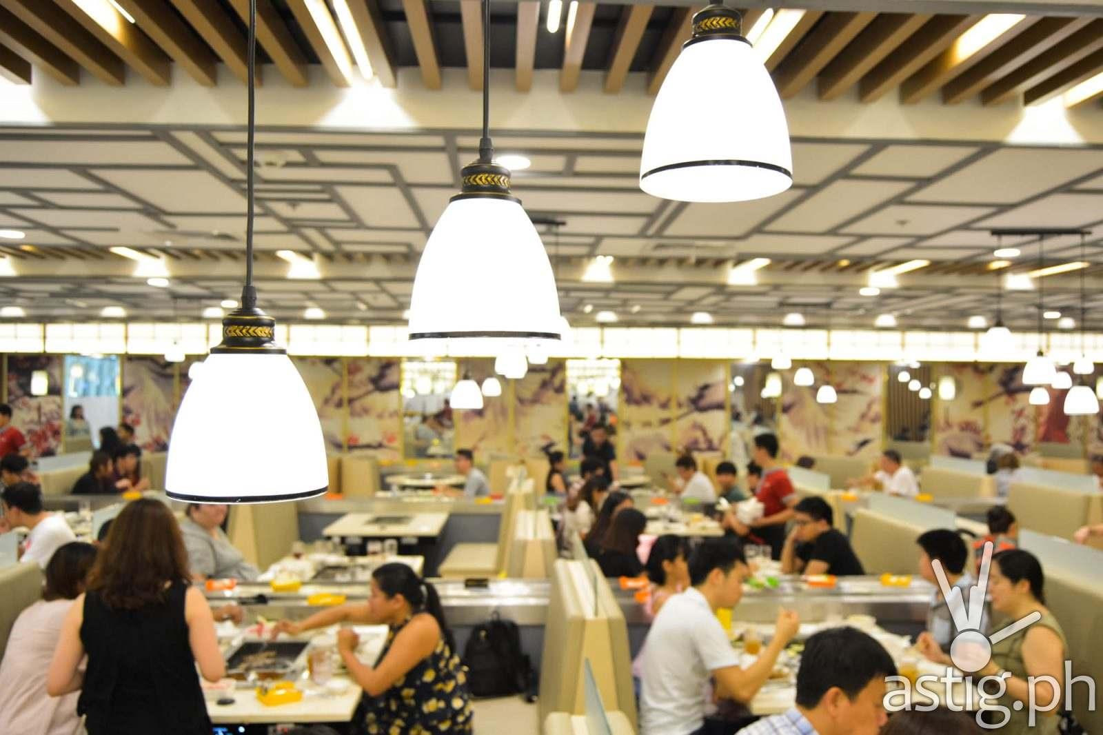 Dining lights - Hosaku International Buffet Philippines SM North Tower 2