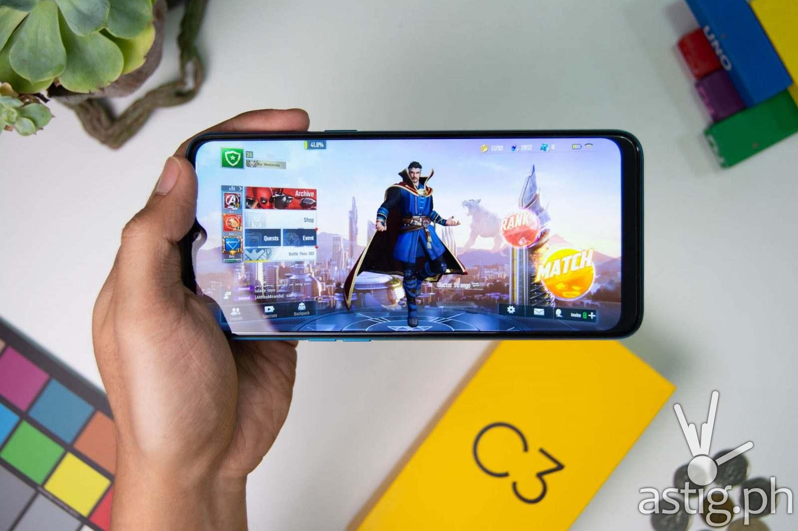 Gaming handheld (Marvel Super War) - Realme C3 Philippines