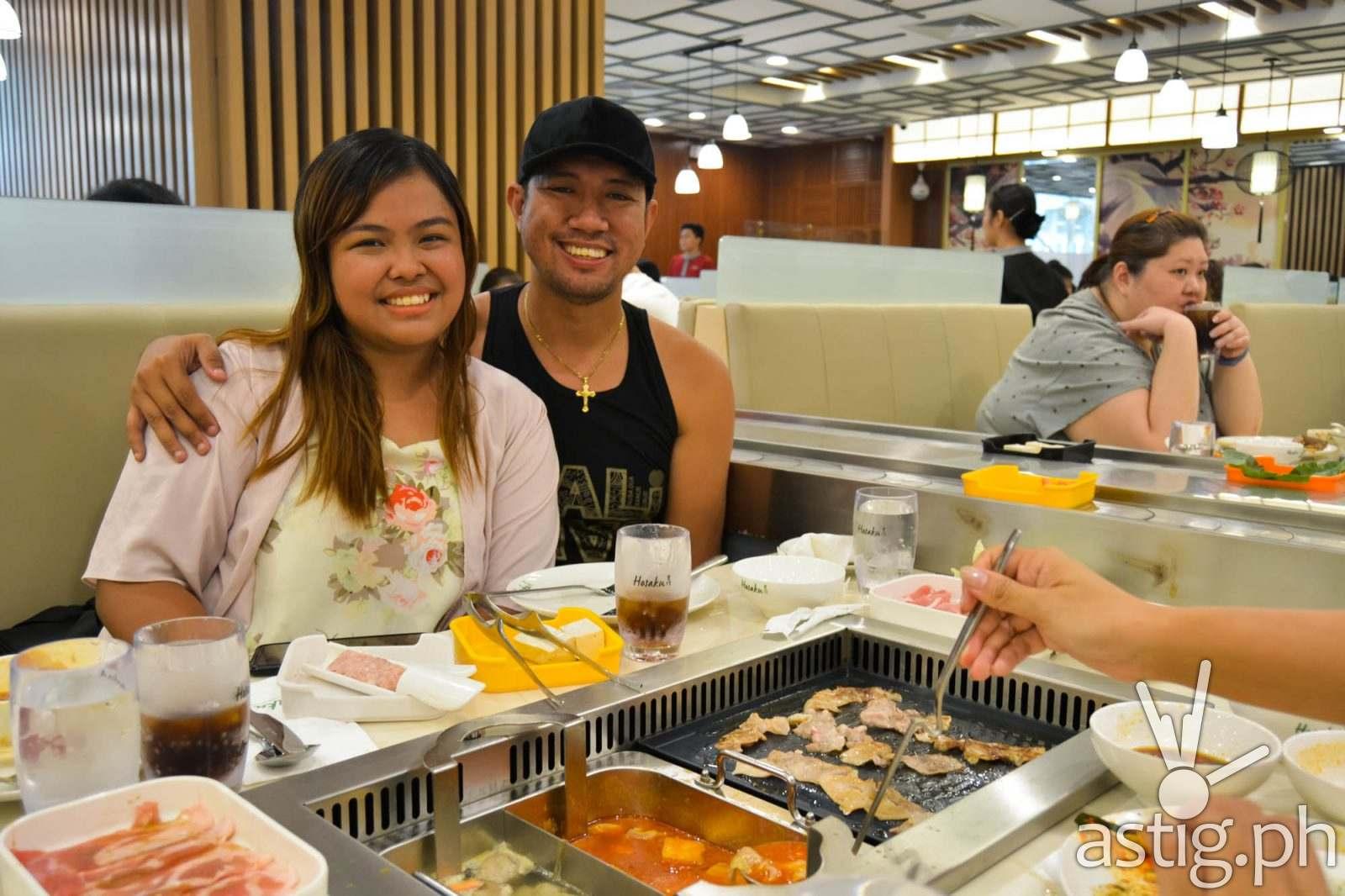 Kristiane Marfori and Jacque Colitoy of BuzzSetter - Hosaku International Buffet Philippines SM North Tower 2