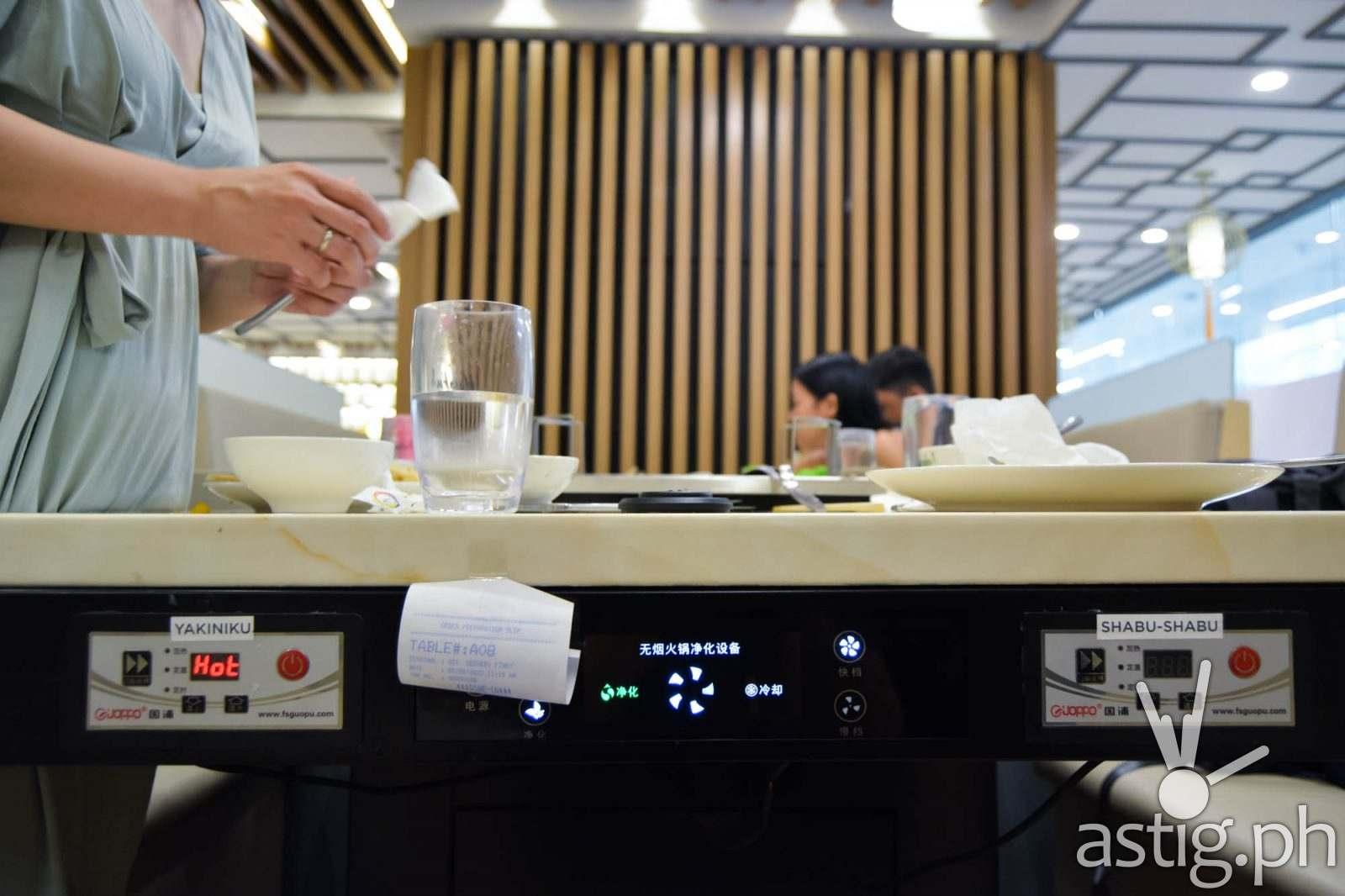 Table controls - Hosaku International Buffet Philippines SM North Tower 2
