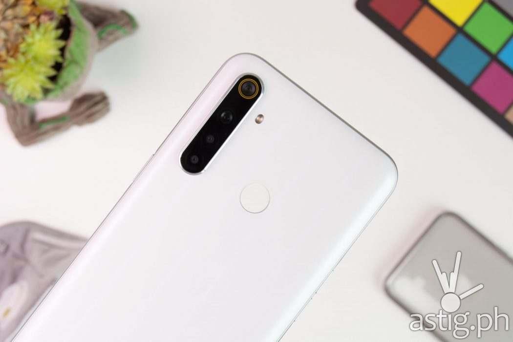 Back showing quad-camera and fingerprint scanner - realme 6i (Philippines)