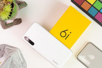 realme 6i flatlay unboxing back White Milk - realme 6i (Philippines)
