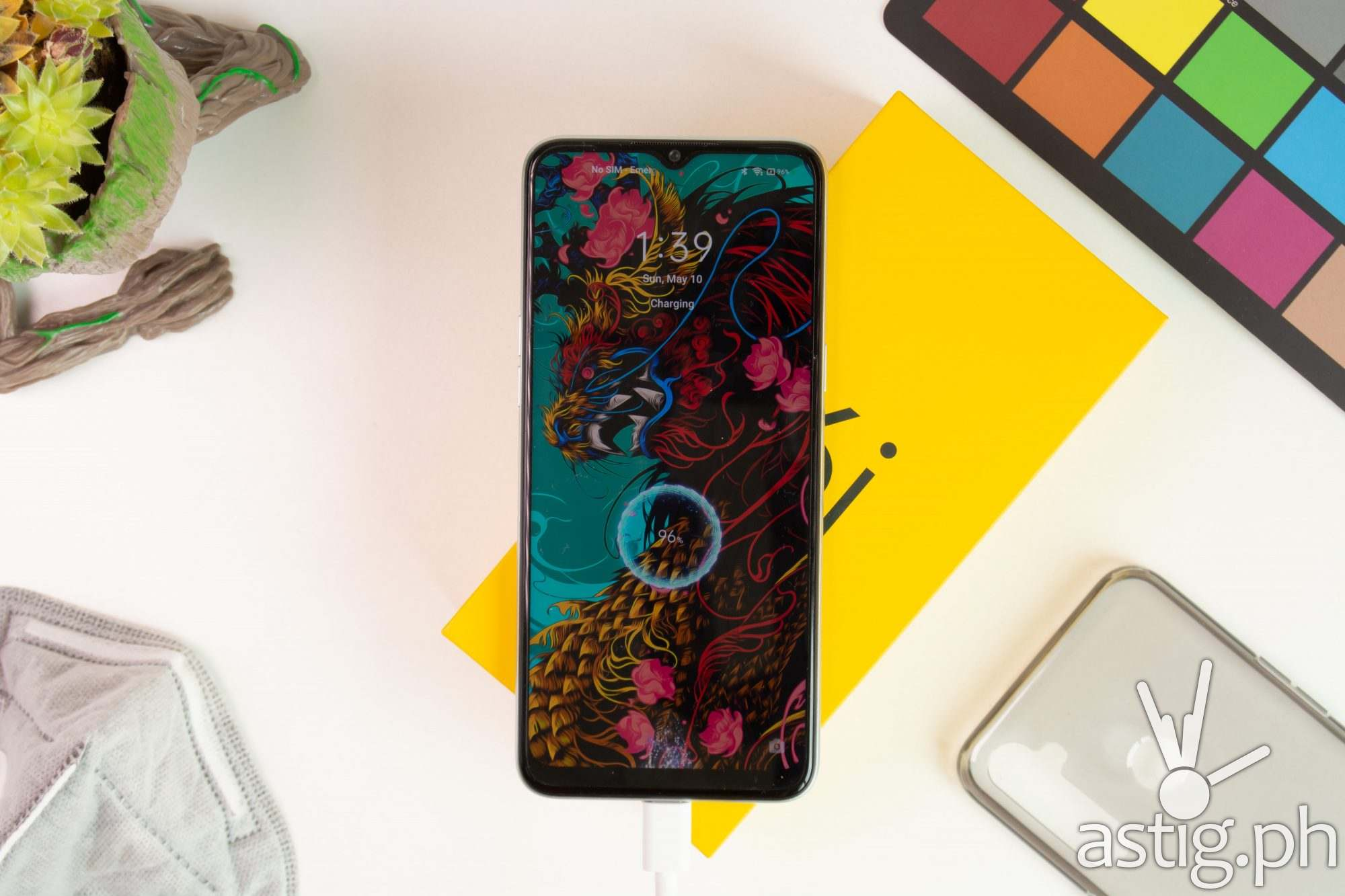 realme 6i flatlay unboxing front - realme 6i (Philippines)