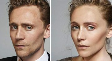 FaceApp gender swap Tom Hiddleston