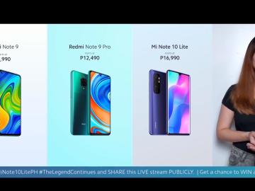 Redmi Note 9 Redmi Note 9 Pro Mi Note 10 Lite Philippines price release date