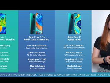 Redmi Note 9, Redmi Note 9 Pro Redmi Note 9S comparison - Philippine launch