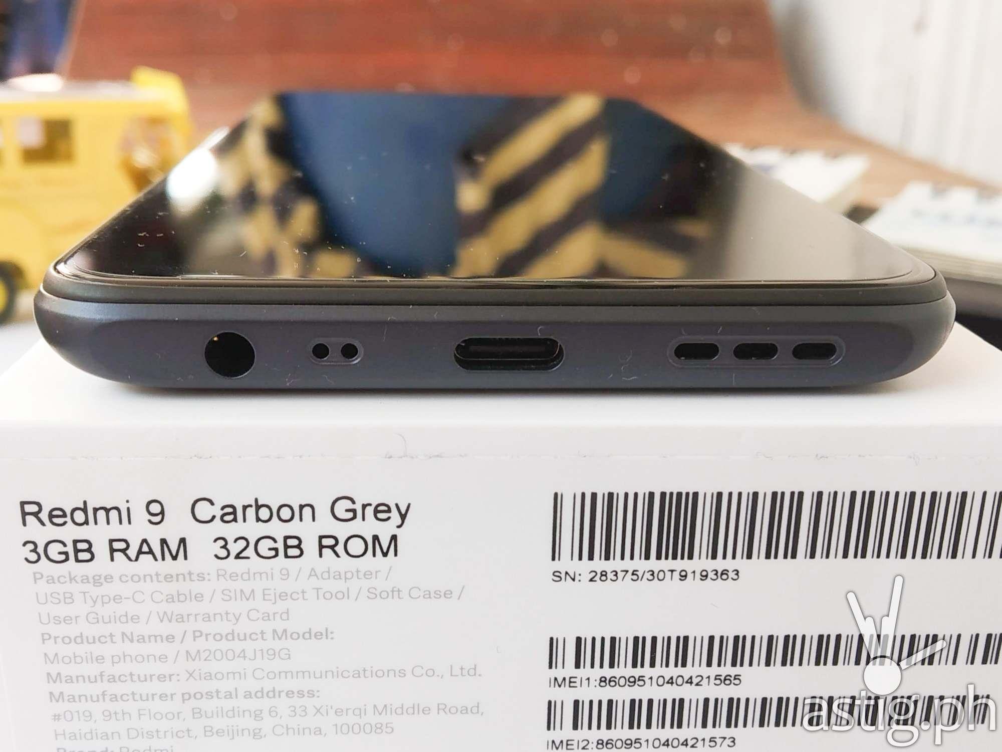Audio jack, USB port - Redmi 9 (Philippines)