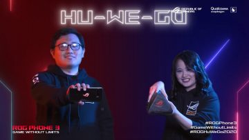 Franz Chan and Leoren Voilan -of ASUS Philippines - ROG Phone 3 launch Philippines