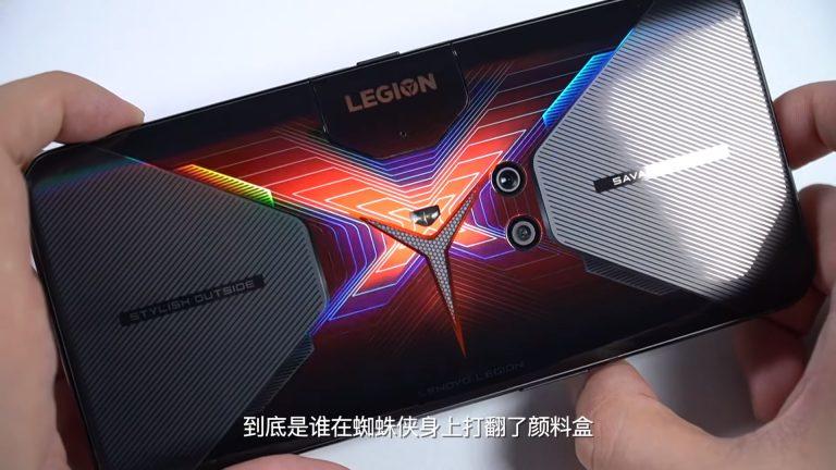 RGB hologram back - Lenovo Legion Phone Duel gaming smartphone