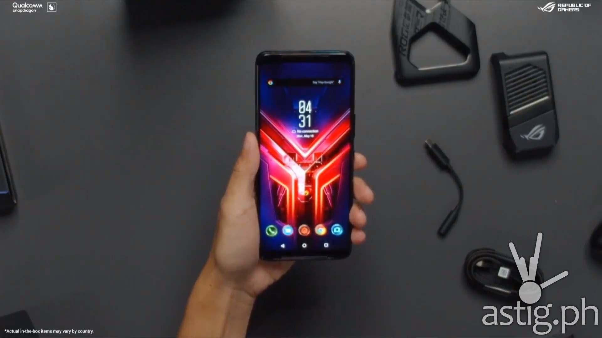 ROG phone 3 flatlay