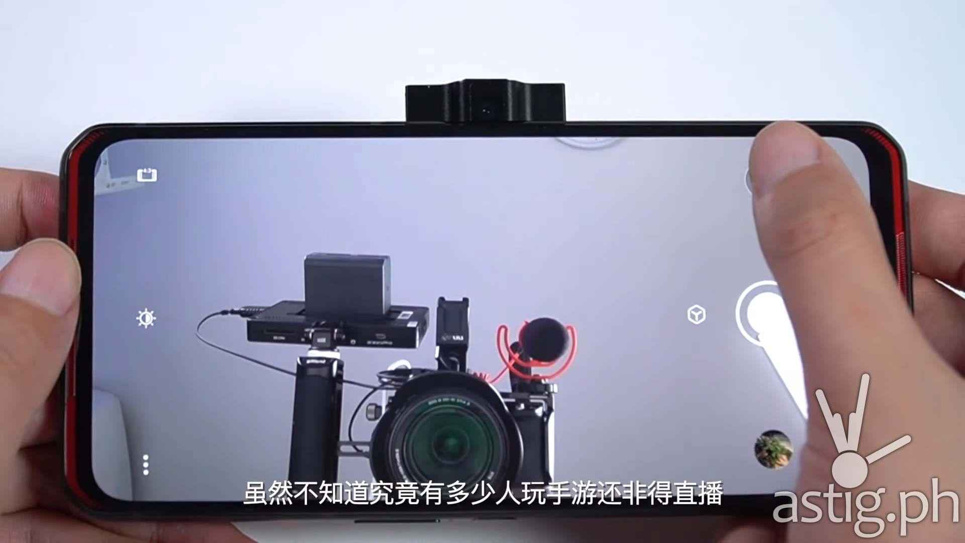 Selfie camera - Lenovo Legion Phone Duel gaming smartphone