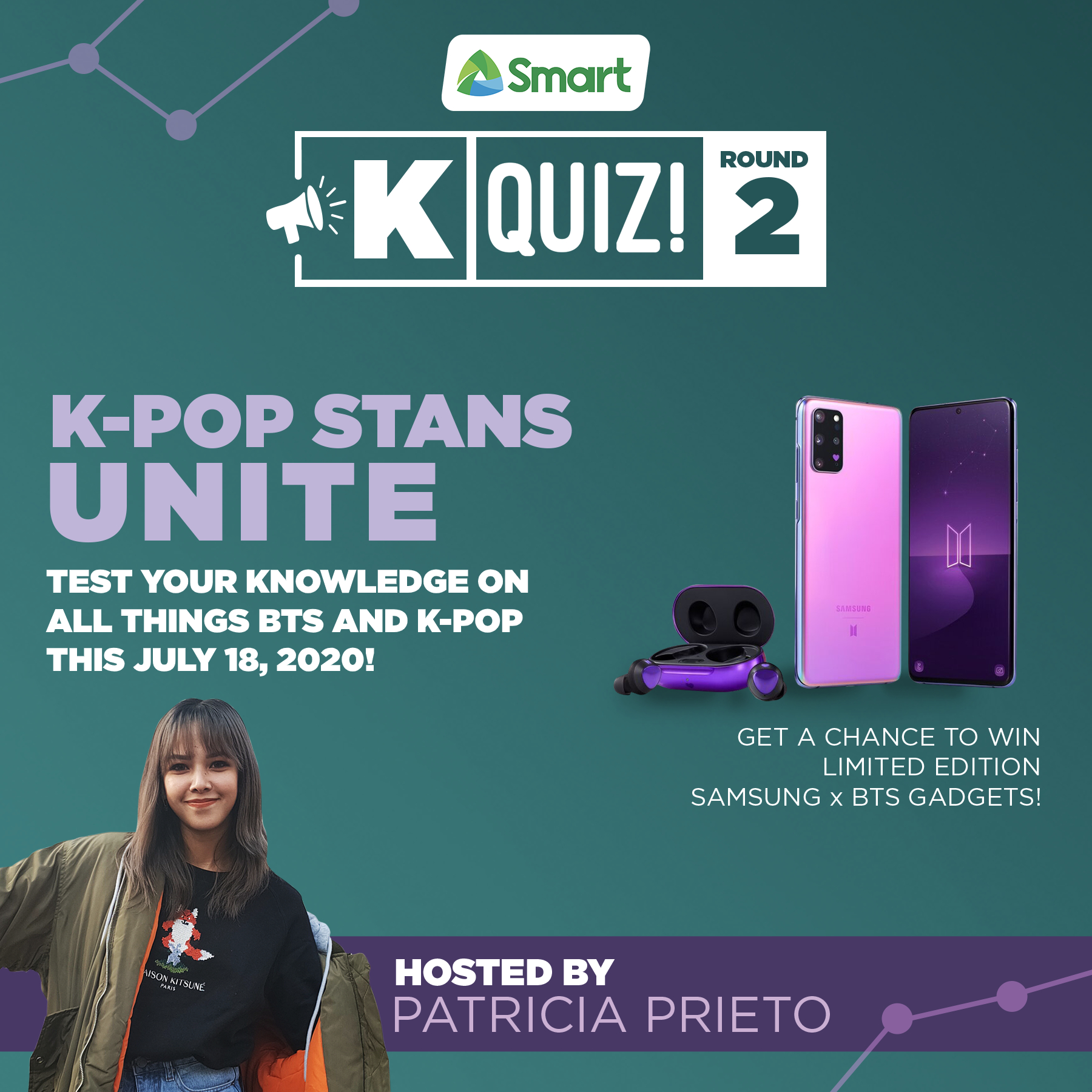 Smart K Quiz Night - Samsung Galaxy S20+ BTS Edition giveaway square