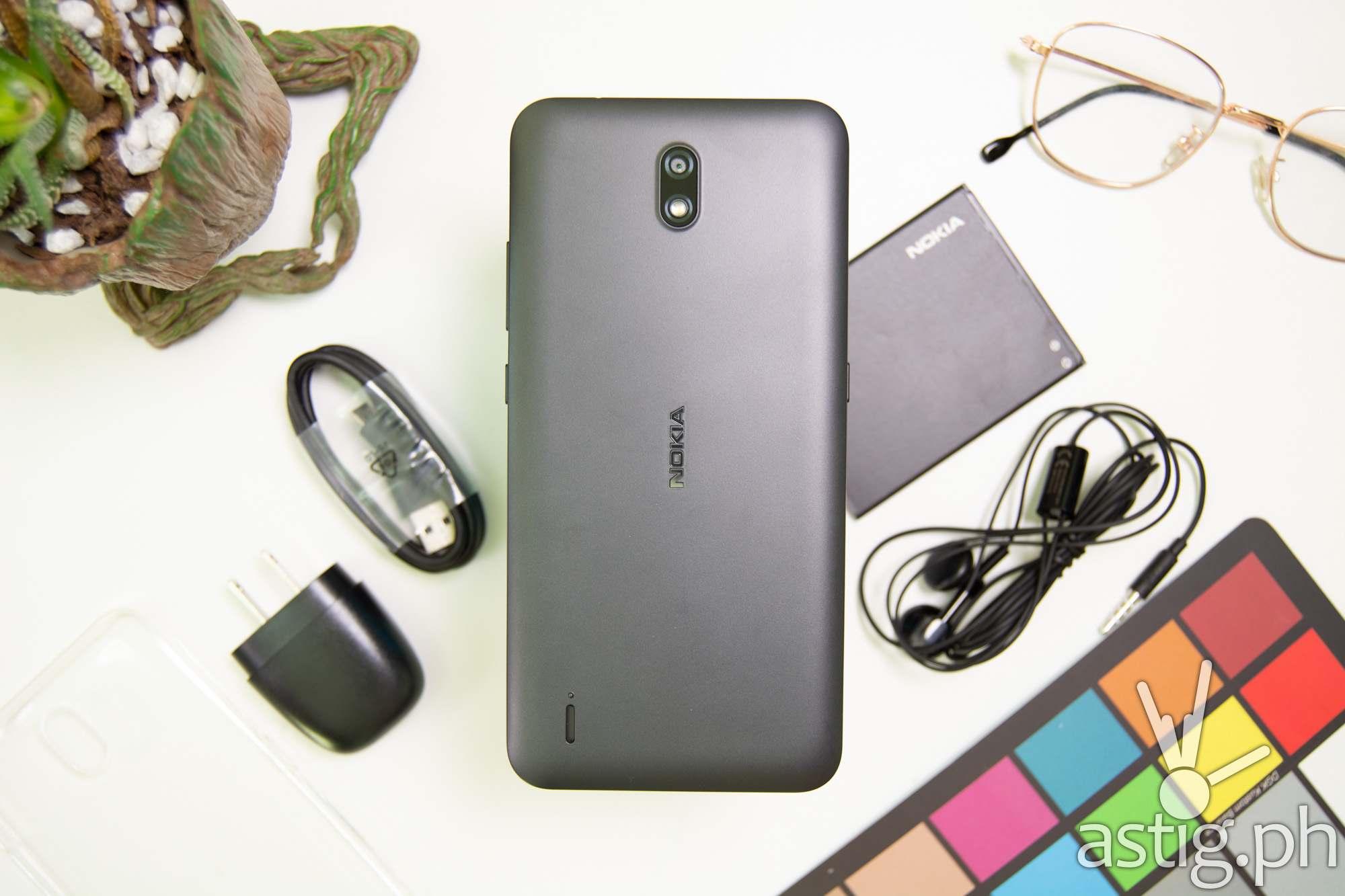 Unboxing battery flatlay back - Nokia C2 (Philippines)