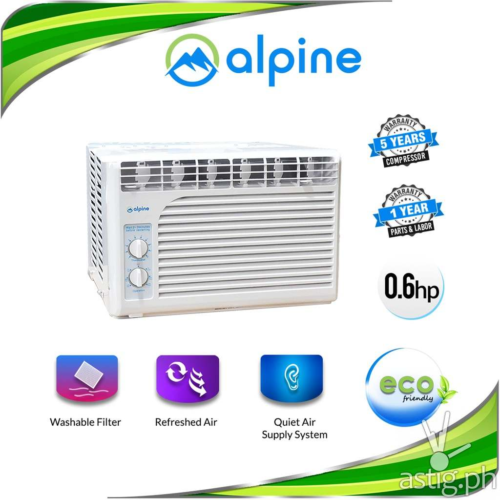 Alpine BW-5MJ09A Window Type Air Conditioner 0.5HP