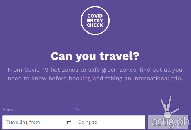 This website helps you track  travel restrictions during the pandemic