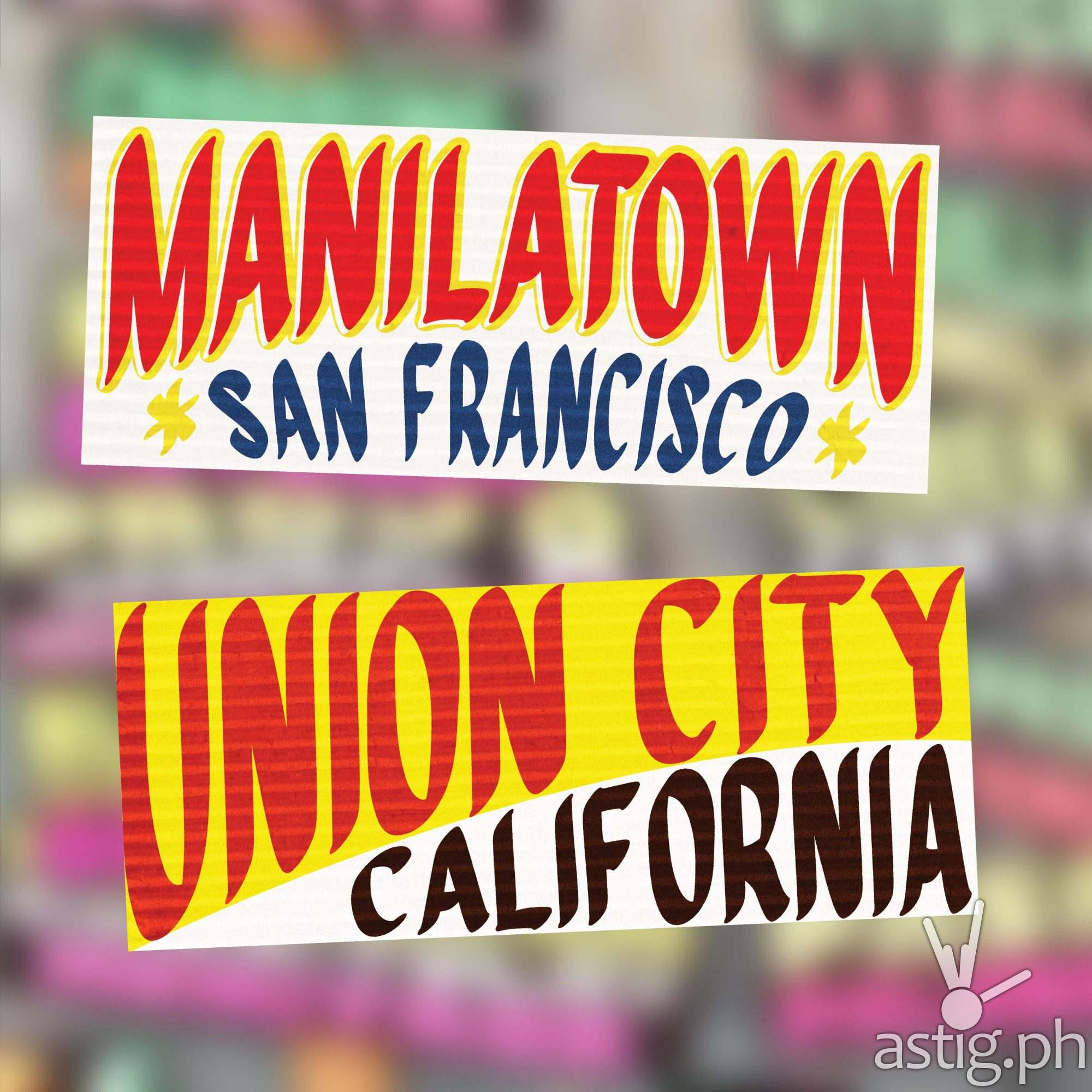 Manilatown, San Francisco and Union City, Clifornia - US cities as jeepney signs from the Philippines by Zach Reyes