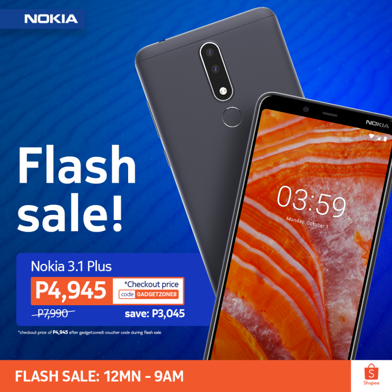 Nokia 3.1 Plus flash sale
