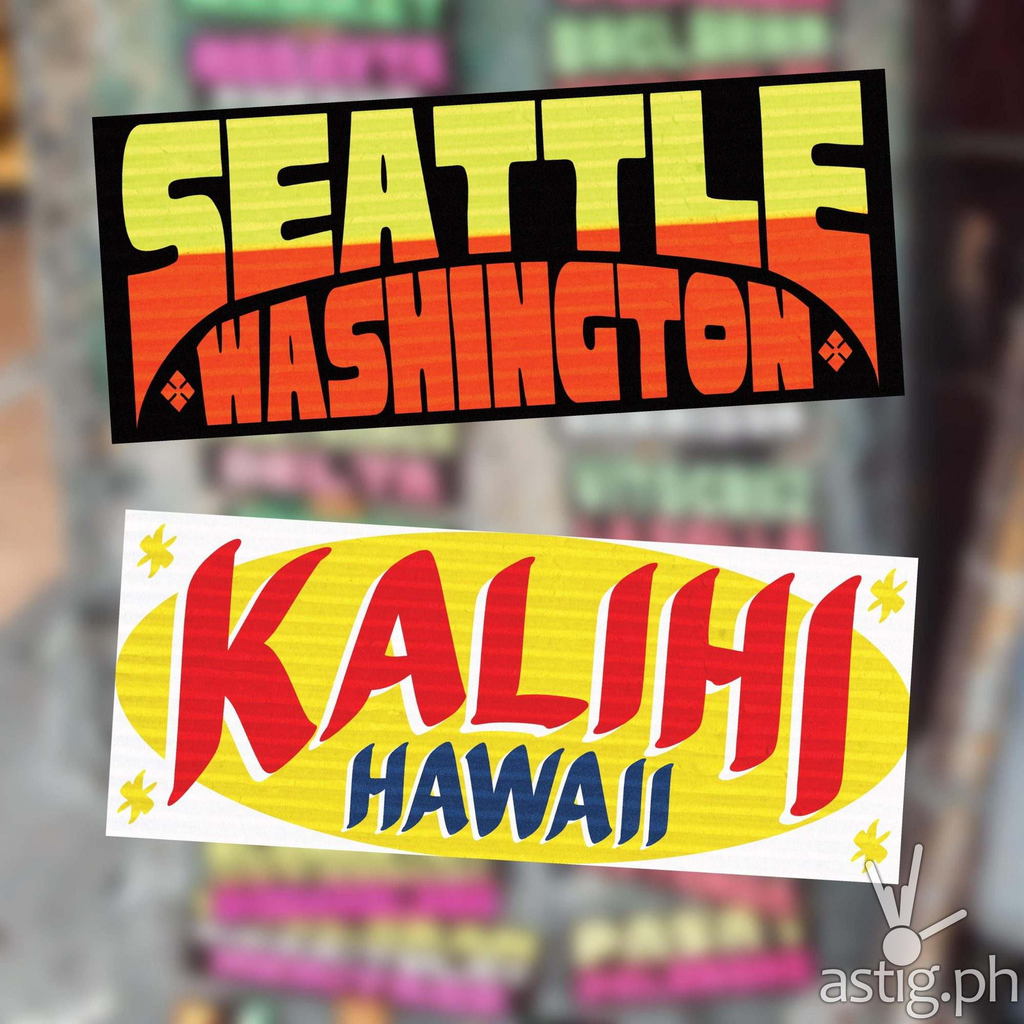 Seattle, Washington, Kalihi, Hawaii - US cities as jeepney signs from the Philippines by Zach Reyes