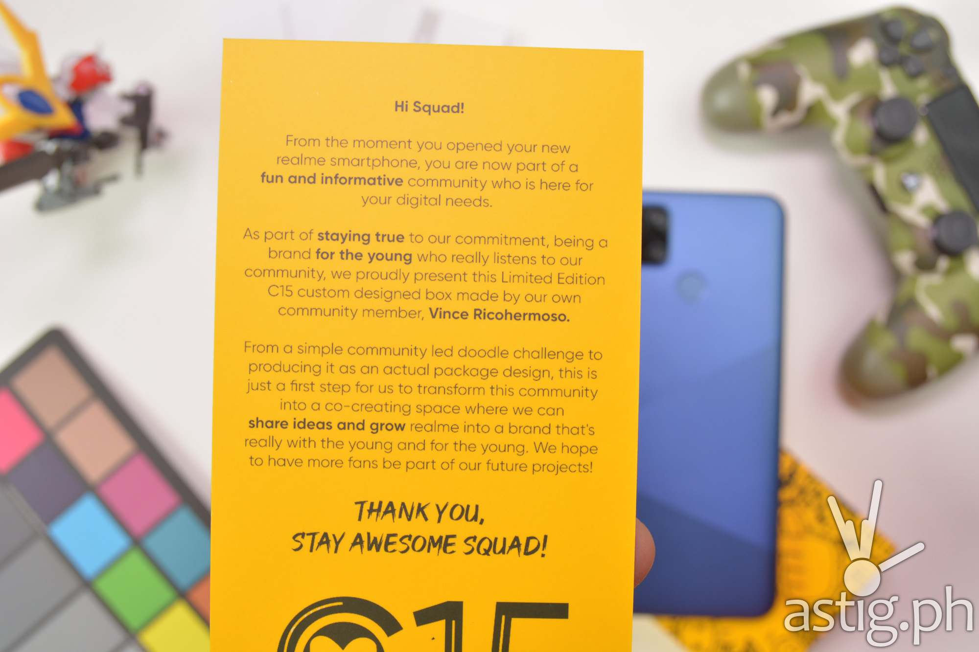 Welcome note zoomed - Realme C15 (Philippines)