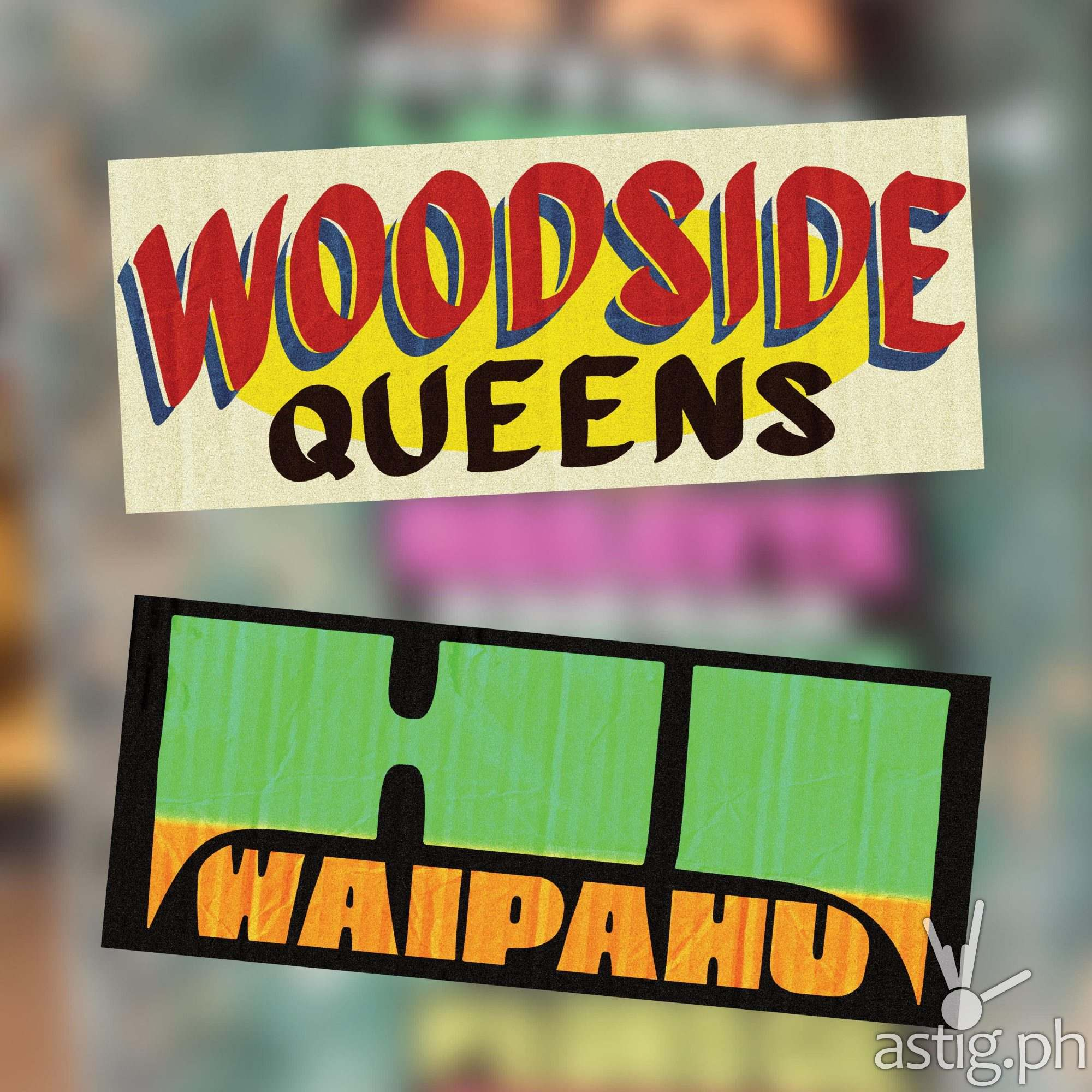 Woodside Queens, Waipahu Hawaii - US cities as jeepney signs from the Philippines by Zach Reyes