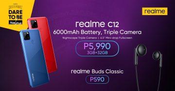realme C12, realme Buds Classic Launch