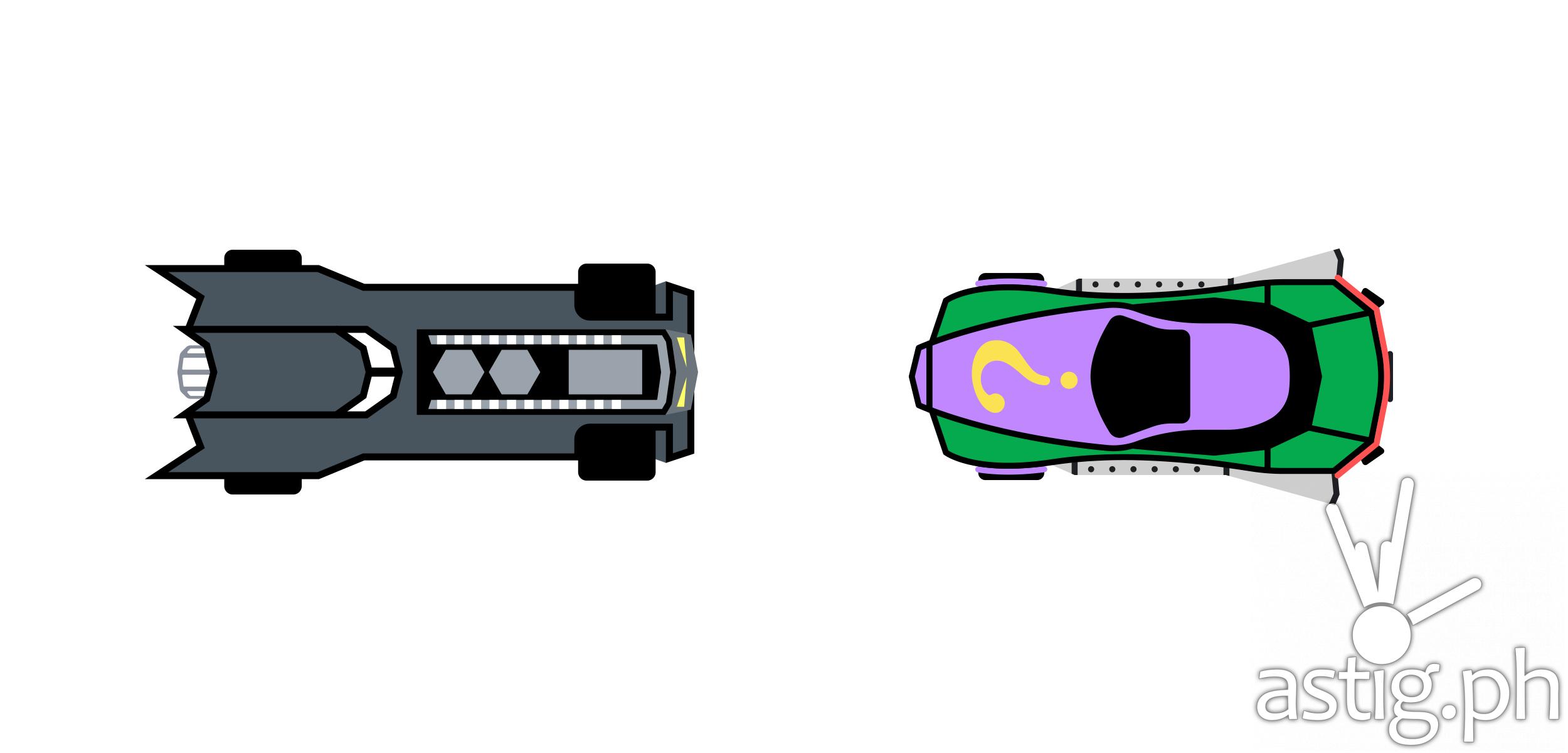 Batmobile The Riddler Racer on Waze