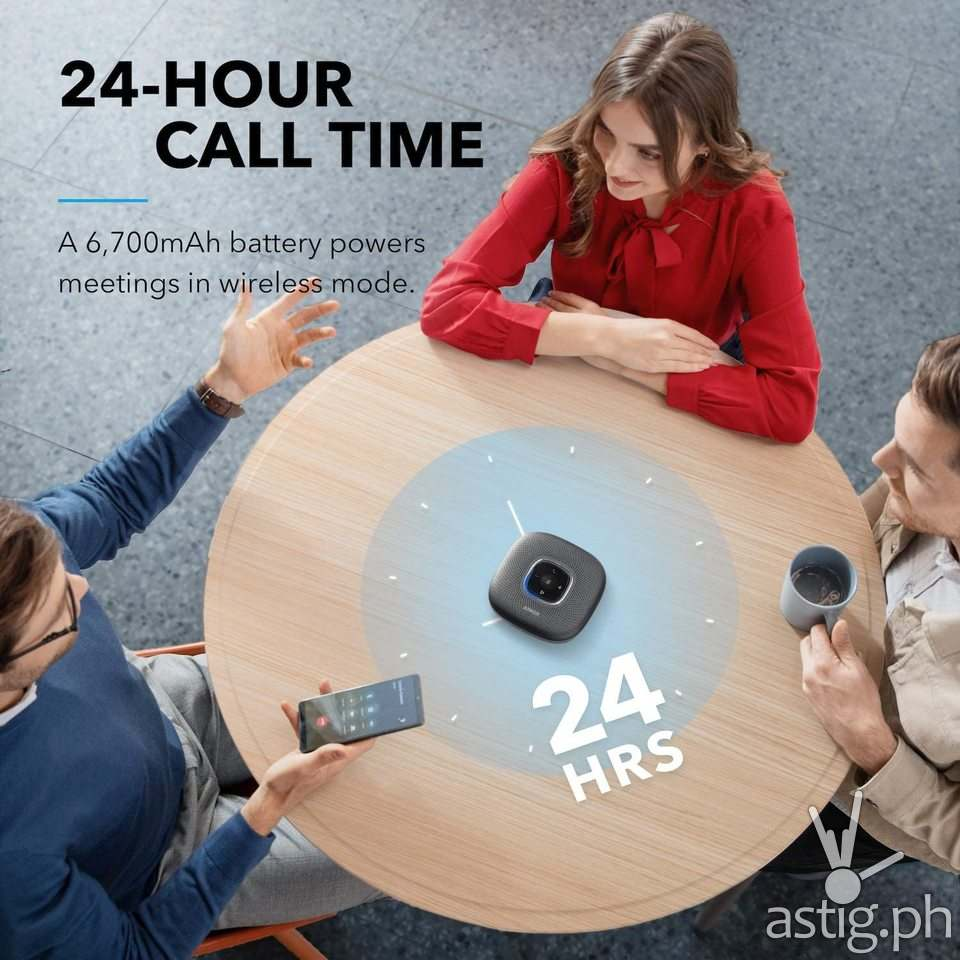 24 hour call time Anker PowerConf Bluetooth Speakerphone