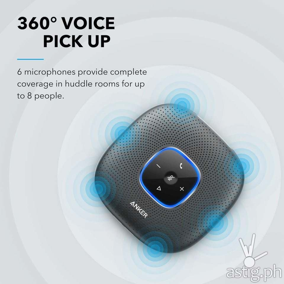 360 degree voice pickup - Anker PowerConf Bluetooth Speakerphone