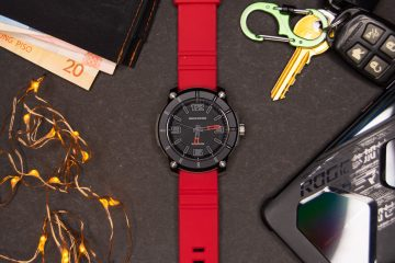 Flatlay front - Skechers Sting Analog Watch (red)