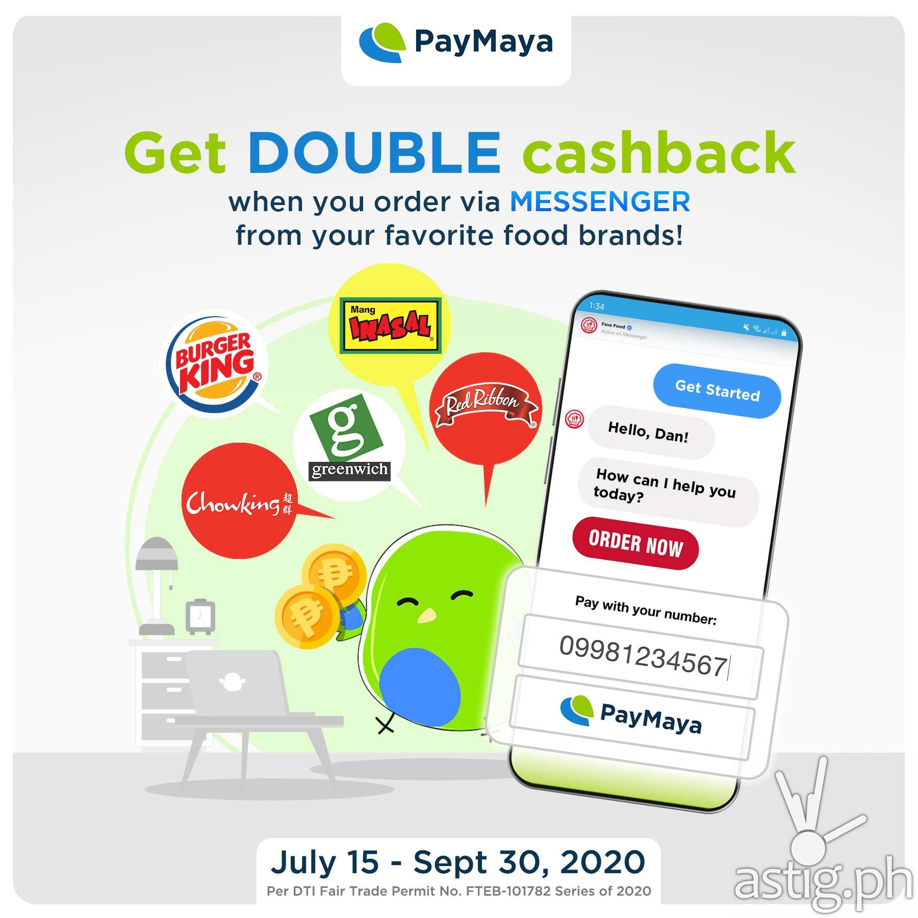 Jollibee PayMaya double cash back promo 2020