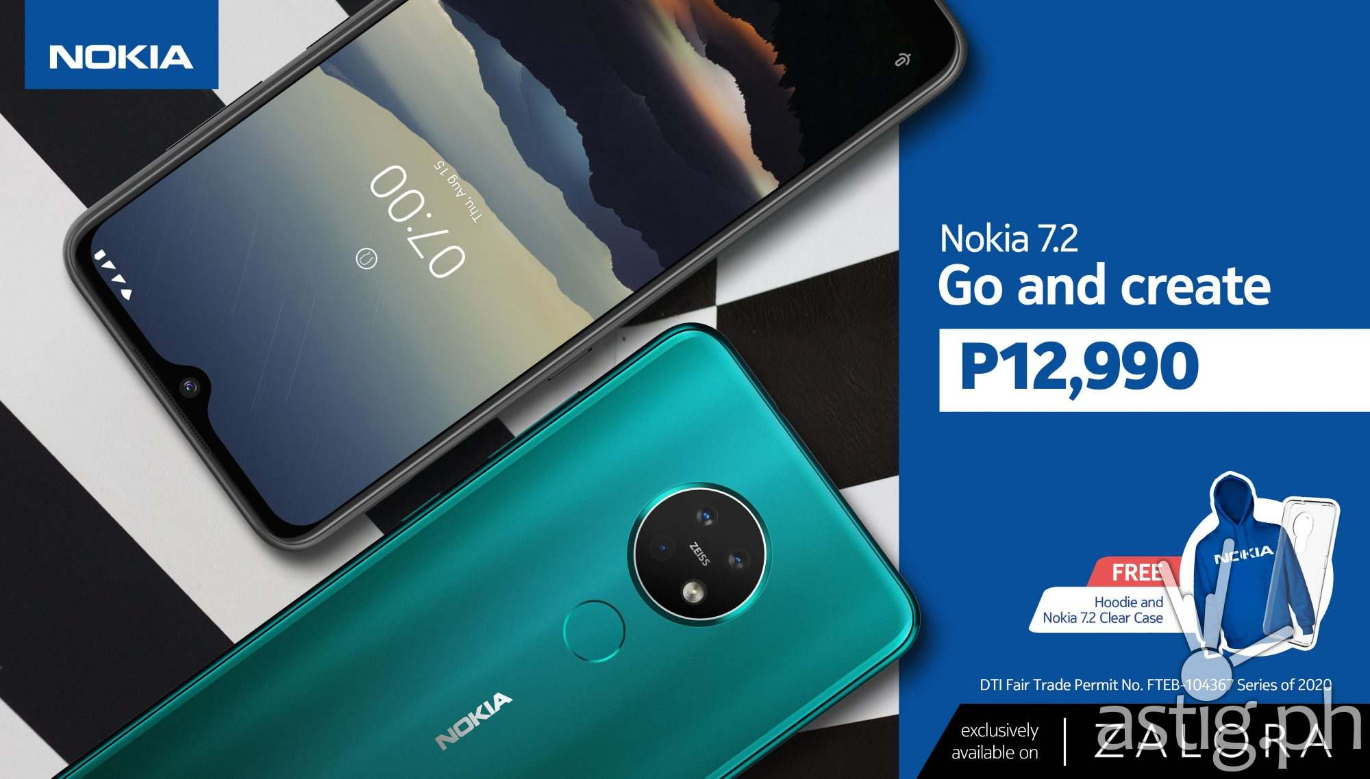Nokia 7.2 price drop on Zalora