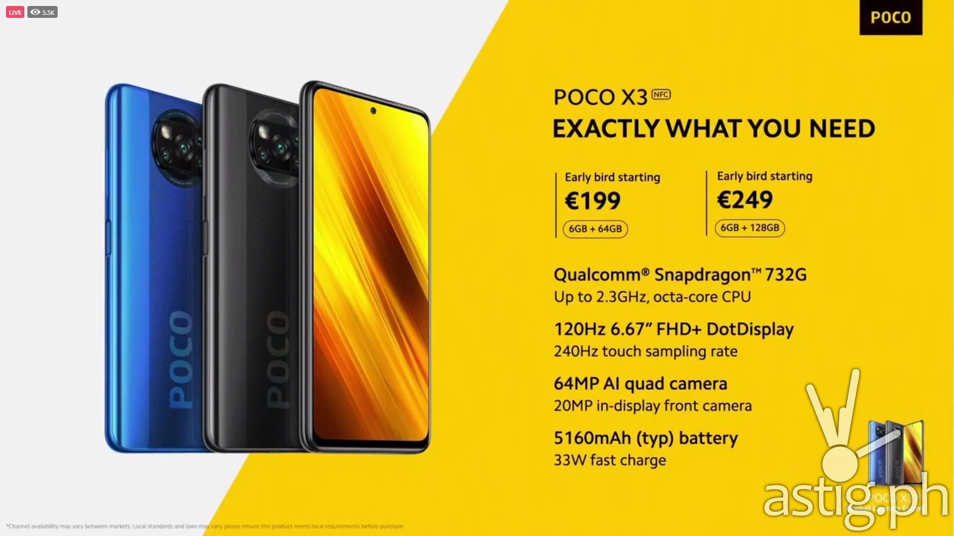 POCO X3 specs price global