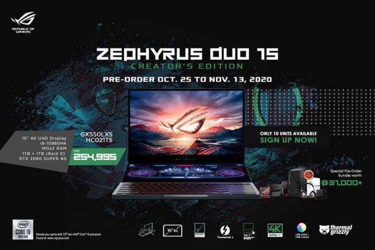 ROG Zephyrus Duo 15 Creator's Edition