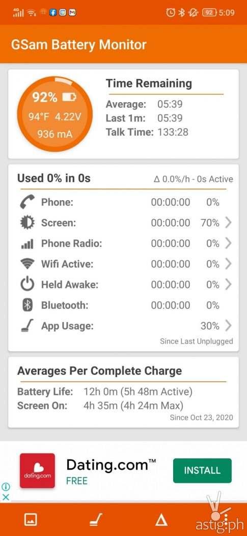 GSam Battery Life Benchmark - Legion Phone Duel