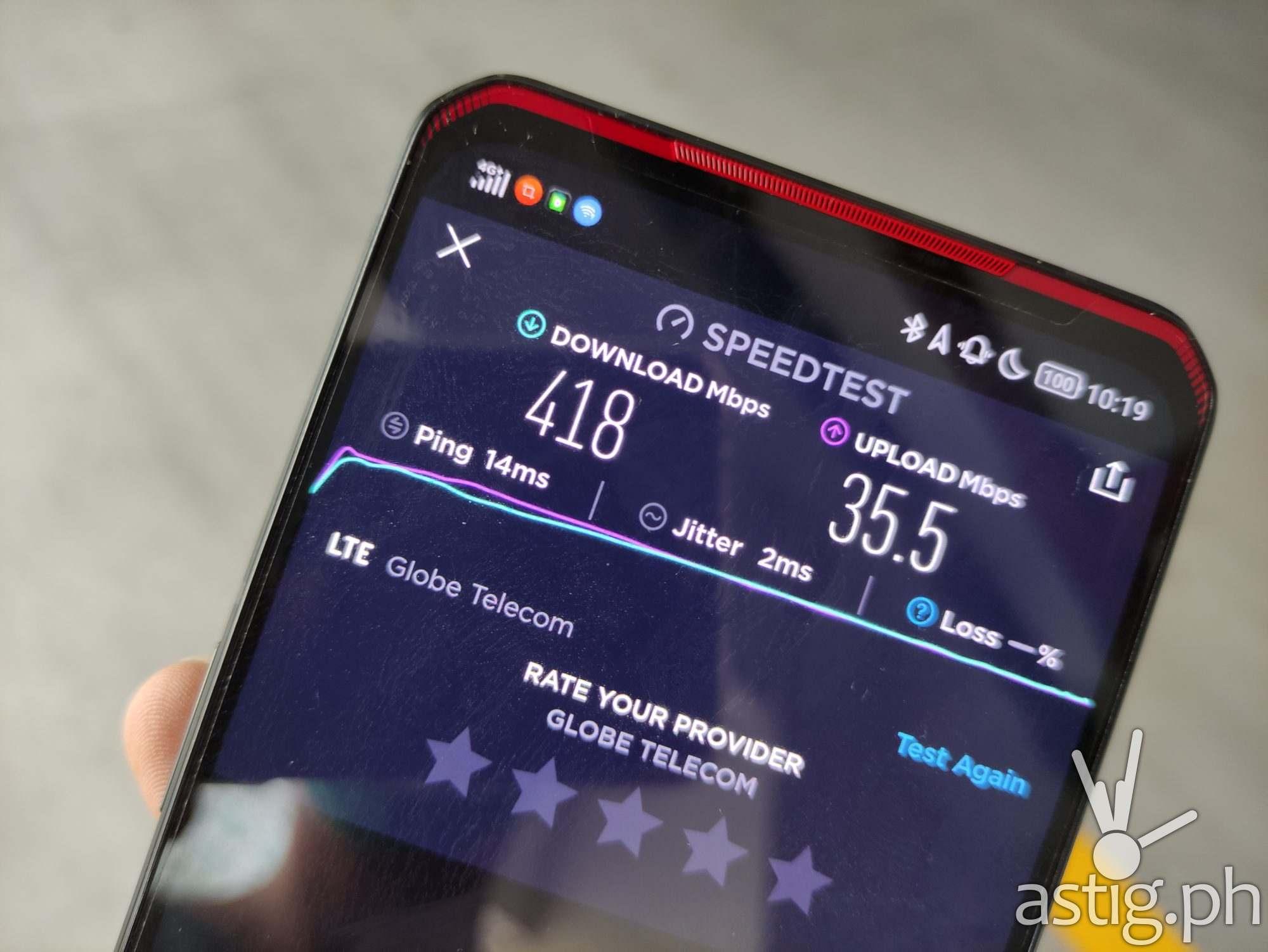 5G speed test - Legion Phone Duel (Philippines)