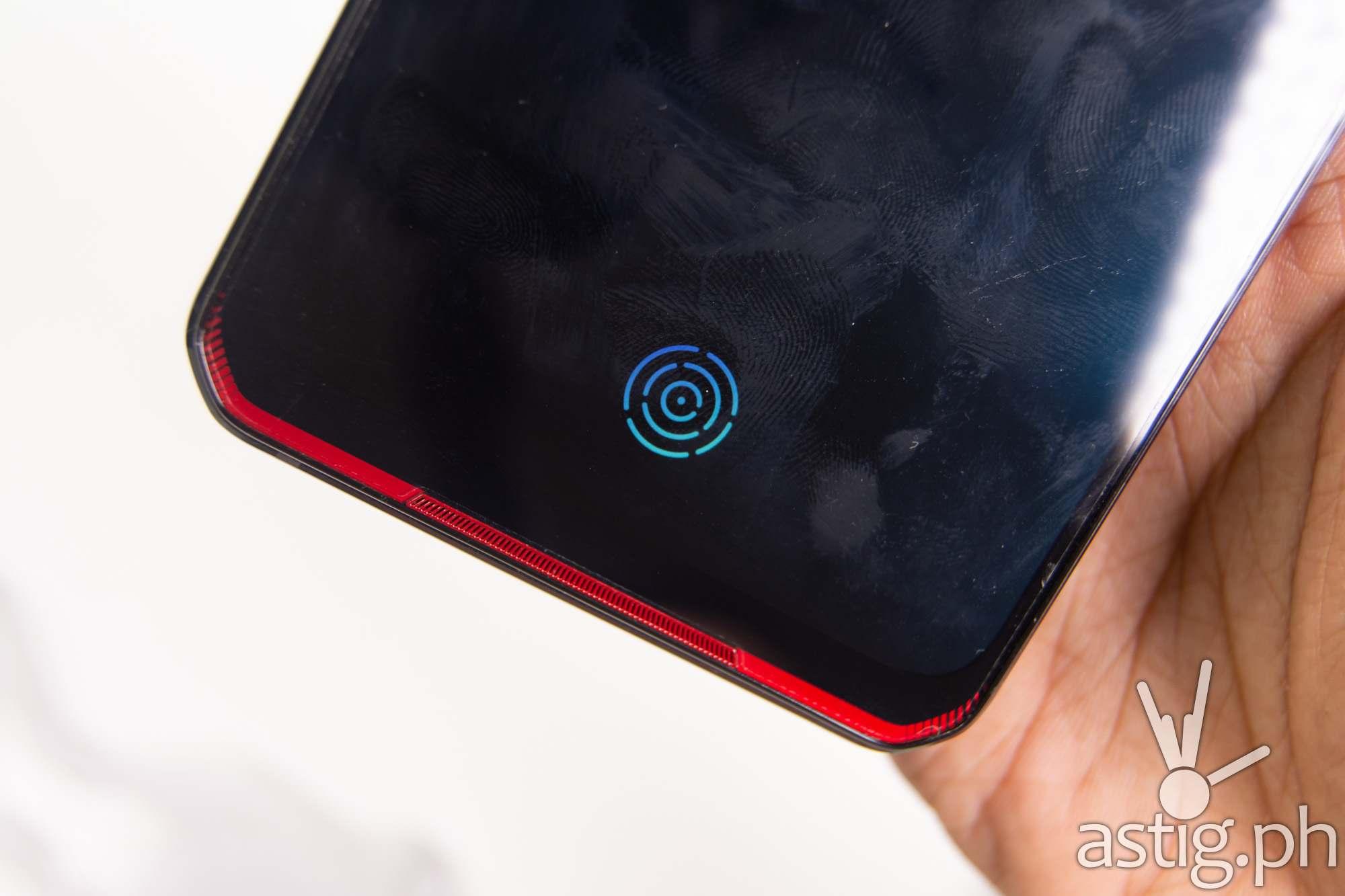 In-display optical fingerprint scanner Vengeance Red - Legion Phone Duel (Philippines)