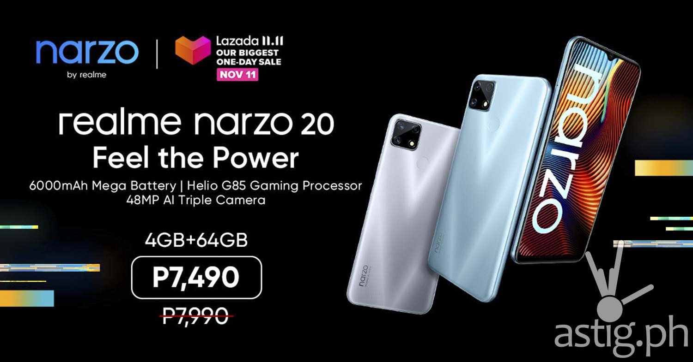 relame Narzo 20 price Lazada Philippines