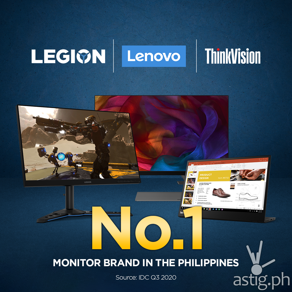 Lenovo named as top monitor brand in PH