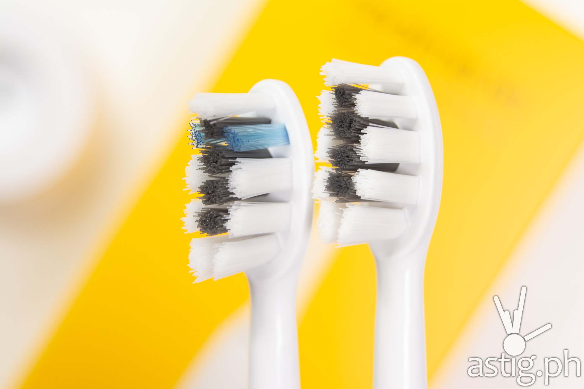 Toothbrush bristles closeup - realme M1 Sonic Electric Toothbrush (Philippines)