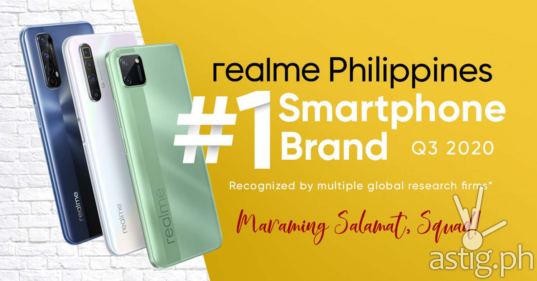realme no. 1 smartphone brand in Philippines