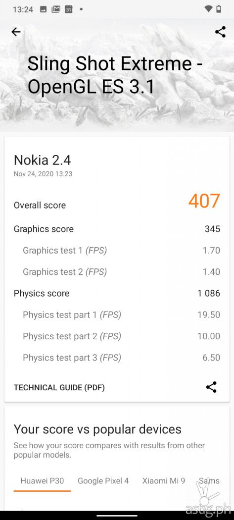 3DMark Sling Show Extreme performance benchmark - Nokia 2.4 (Philippines)