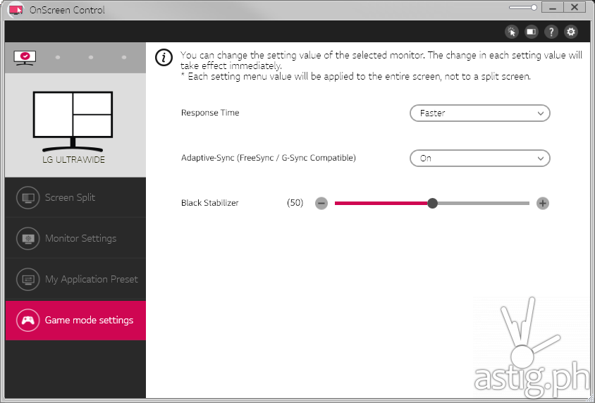 Enable Freesync in LG UltraWide OnScreen Control Panel - LG UltraWide 25UM58 monitor (Philippines)
