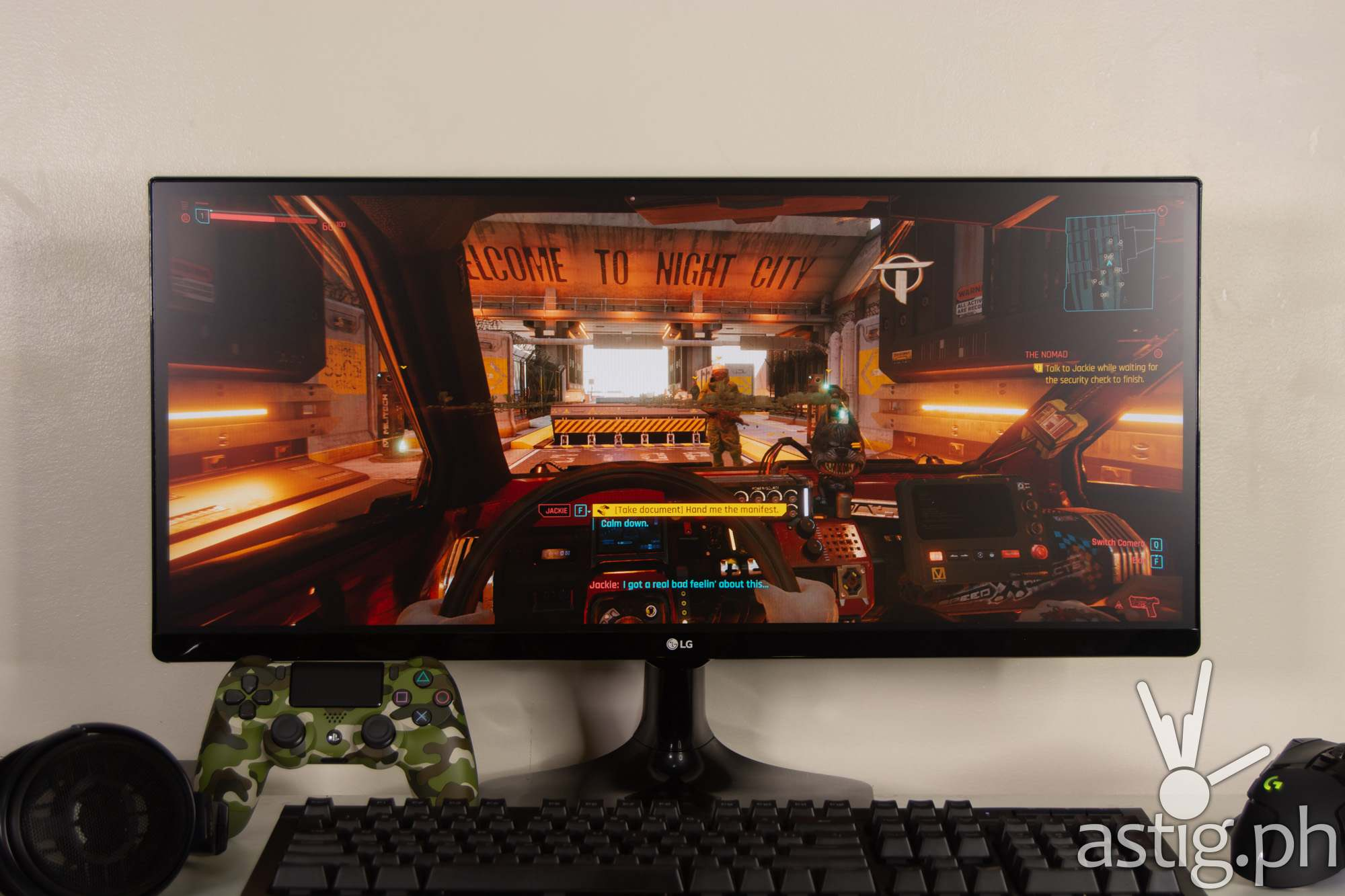 Gaming Cyberpunk 2077 - LG 25UM58 UltraWide Monitor (Philippines)
