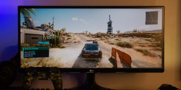 Cyberpunk 20177 gaming - LG 25UM58 UltraWide Monitor (Philippines)